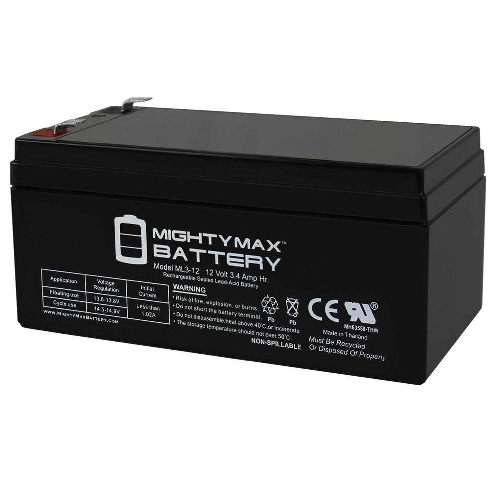 mighty max ml3 12 12v ups replacement battery for. Black Bedroom Furniture Sets. Home Design Ideas