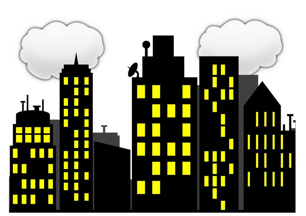 city buildings clipart - photo #49
