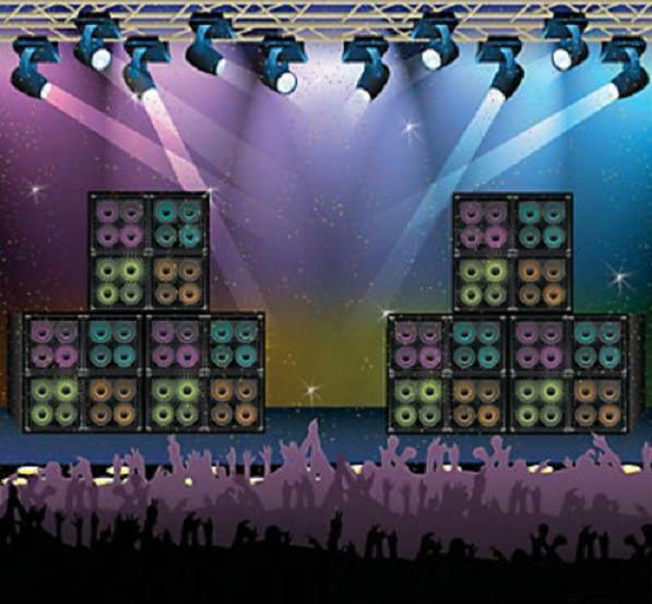 rock star 80s party decoration wall mural rock concert