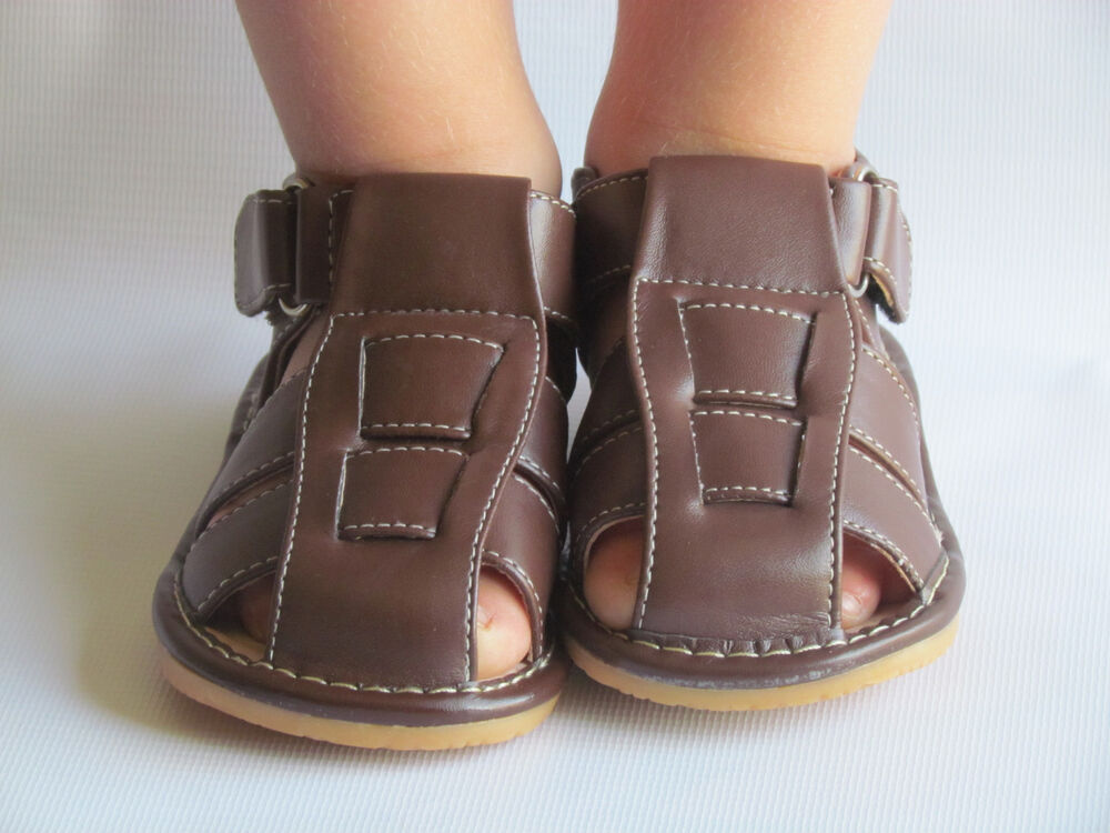 Toddler Sandals - Squeaky Sandals - Boys Brown Sandals, Up ...