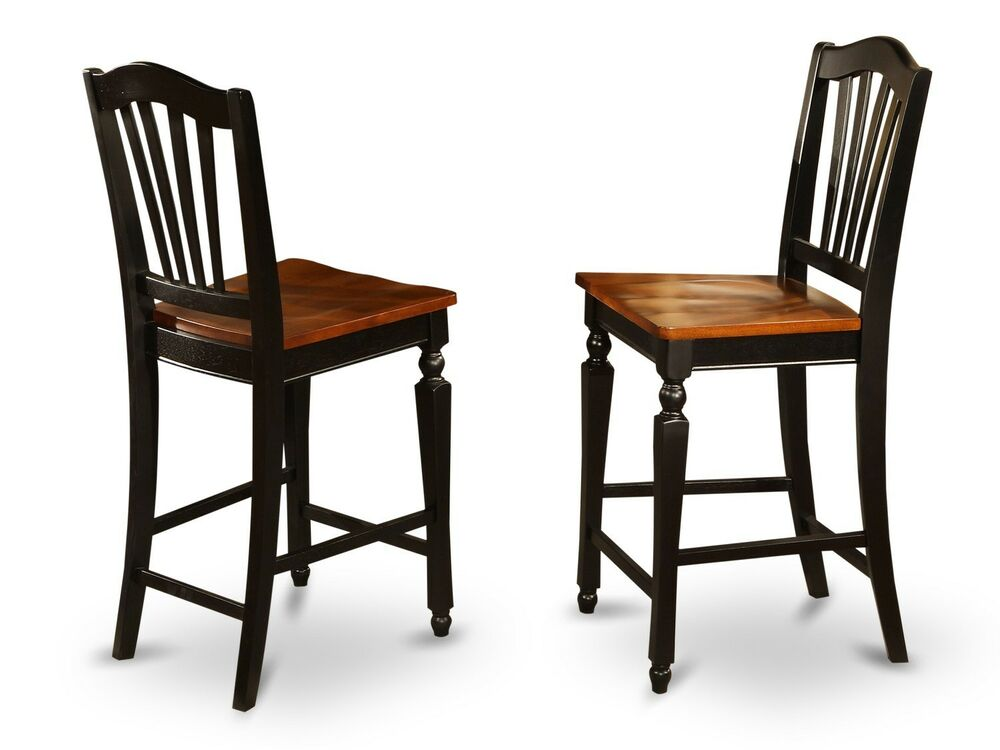 Set of 6 Chelsea kitchen counter height chairs w/ plain ...