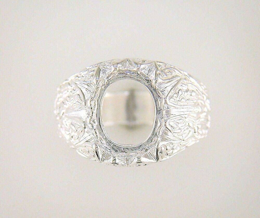 mens oval cabochon donello ring setting sterling silver ebay