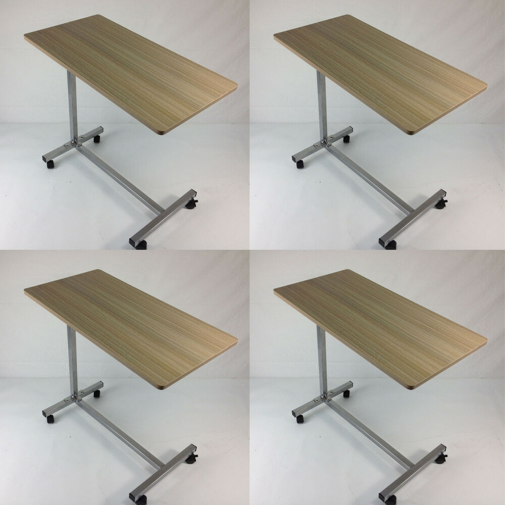 4 X Defective Tray Table Bedside Hospital Top Rolling