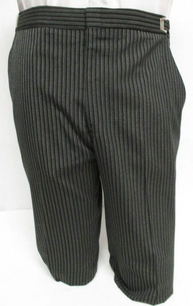 Mens Hickory Striped Morning Trousers Flat Front Vintage Victorian Tuxedo Pants | EBay