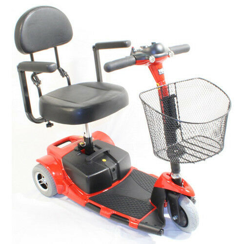 Zip 39 R Roo 3 Wheel Compact Mobility Scooter Transport Red