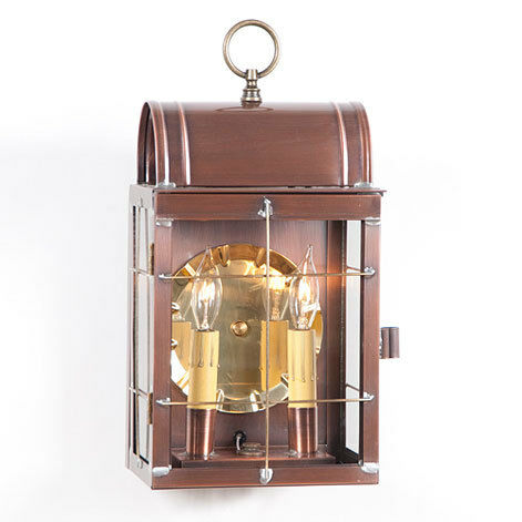 Toll house exterior colonial wall lantern copper brass for Outdoor colonial lighting