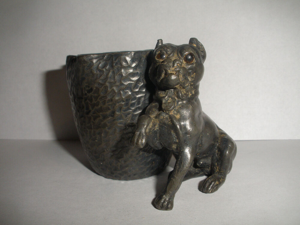Antique Victorian Derby Silver Co Plated Figural Dog Tooth