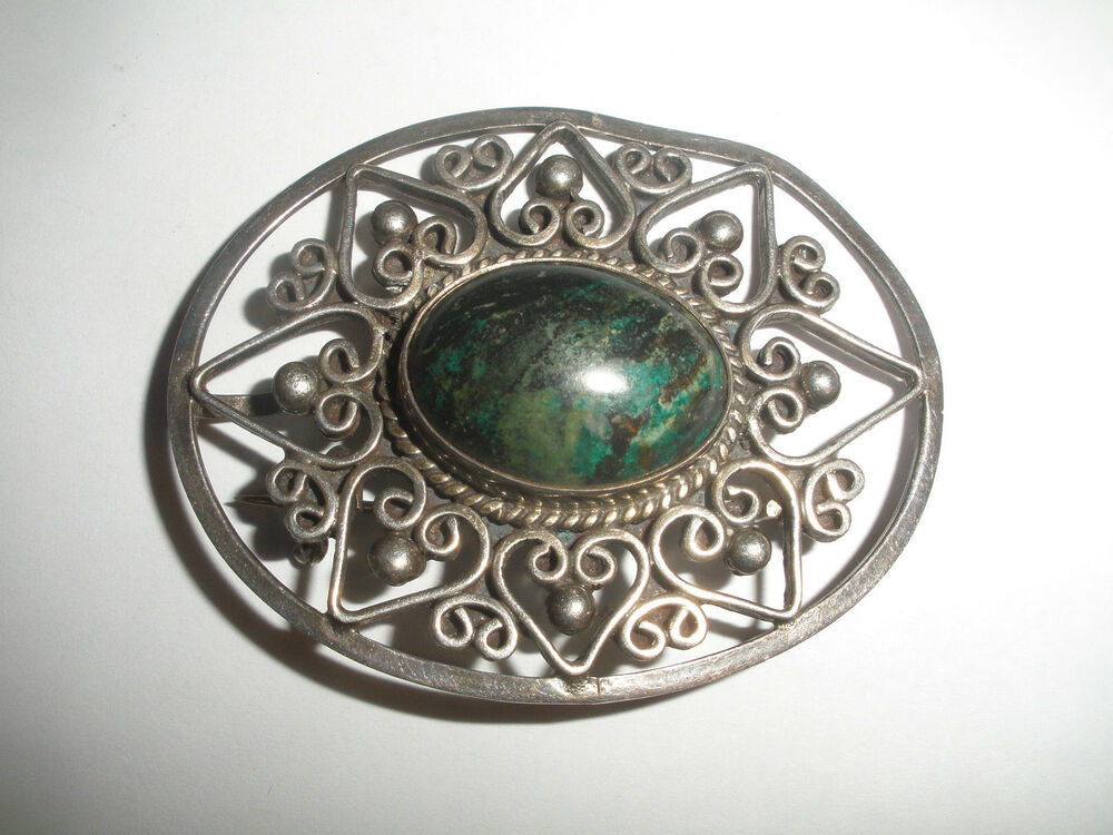 Vintage Mexico Carmen Beckmann Sterling Silver Turquoise