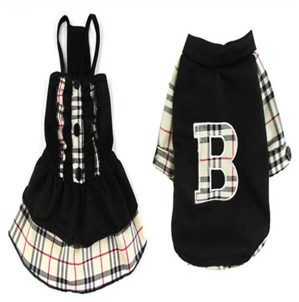 dog pet clothes apparel black dress and t shirt for boy and girl dog