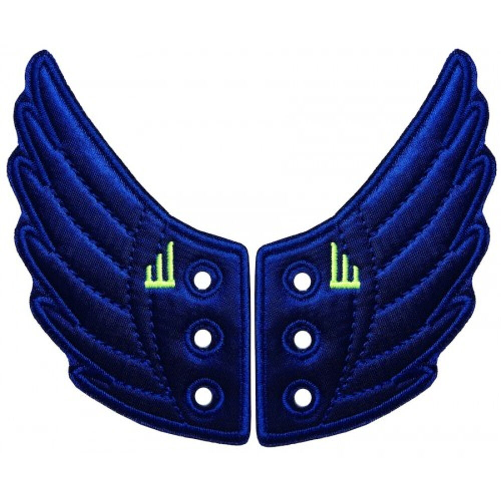 cfccab9a18 Details about SHWINGS Neon Dark Blue wings for your shoes official designer  Shwings NEW 10212