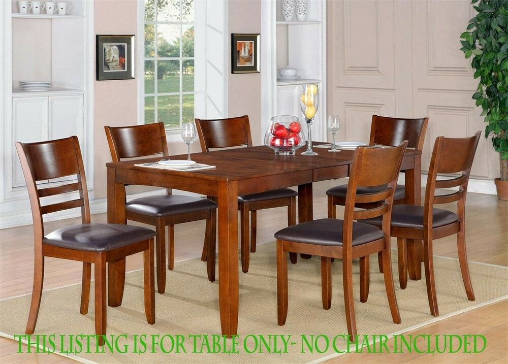 One lynfield rectangular dinette dining table without for Dining table without chairs