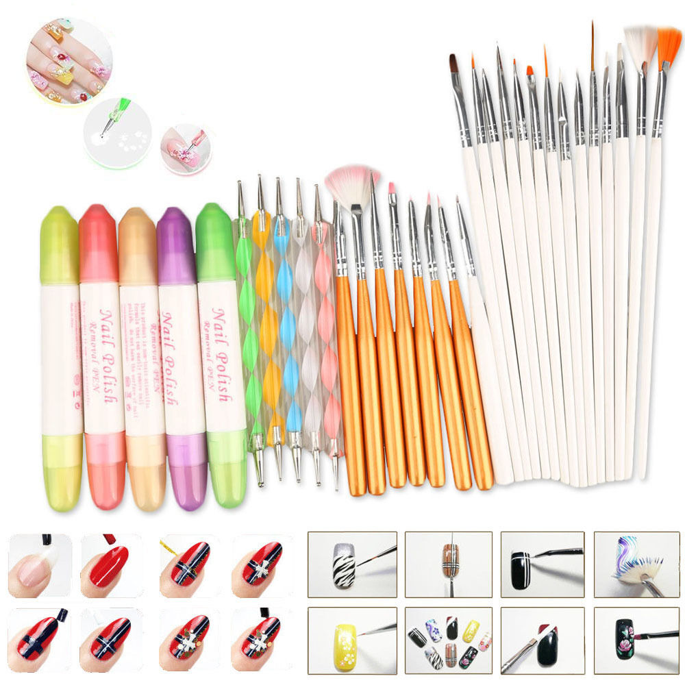 32pcs nail art design set painting drawing polish brush for Avon nail decoration tool