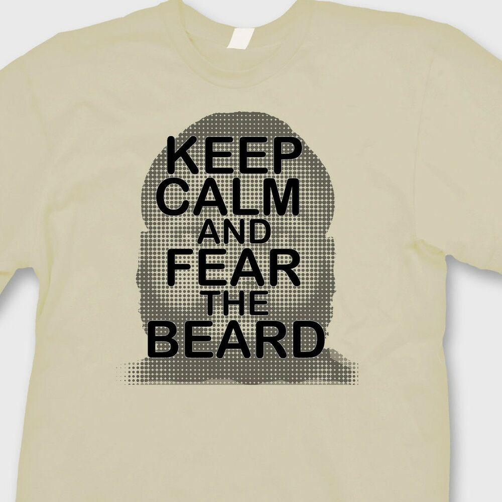 744c4c6ea34 Details about Keep Calm and Fear The Beard OKC Thunders T-shirt James  Harden Tee Shirt