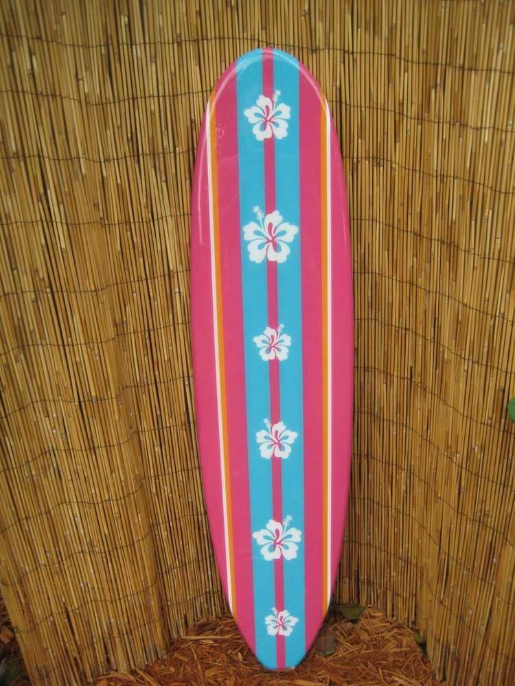 Tropical Decorative Wooden Surfboard Wall Art For A