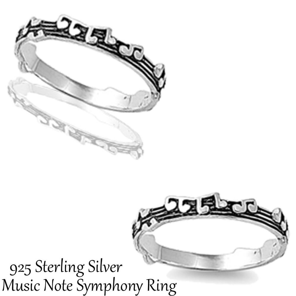 note symphony genuine sterling silver ring sizes 3