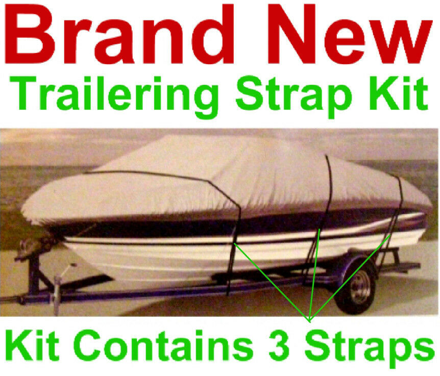 boat cover tie down strap kit 3 straps and buckles new universal trailer fit. Black Bedroom Furniture Sets. Home Design Ideas