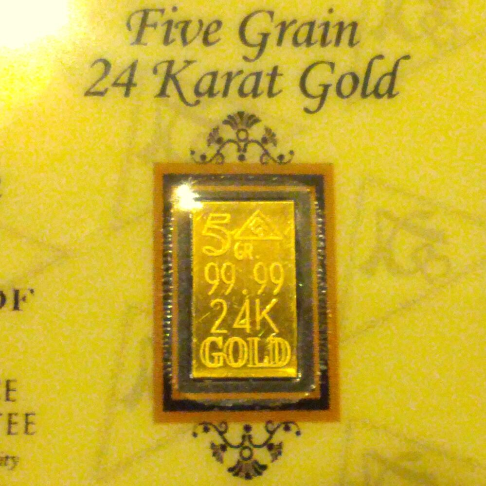 Affordable Acb 5grain 24k Solid Gold Bullion Minted Bar