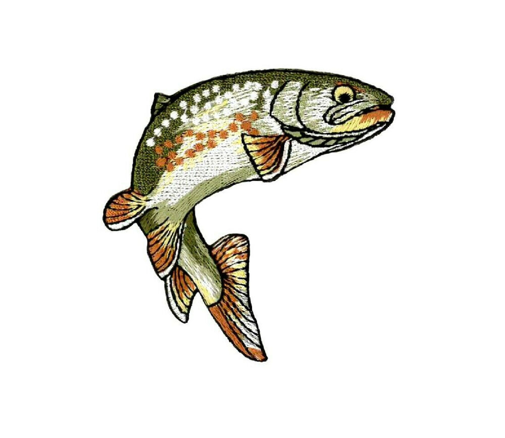 Fishing golden trout fish embroidered right iron for Iron in fish