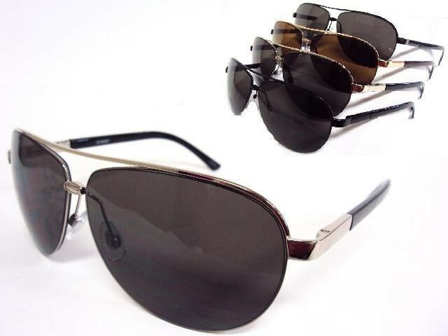 Big Gold Frame Sunglasses : Large Aviator Sunglasses Gold Silver Gunmetal or Black ...