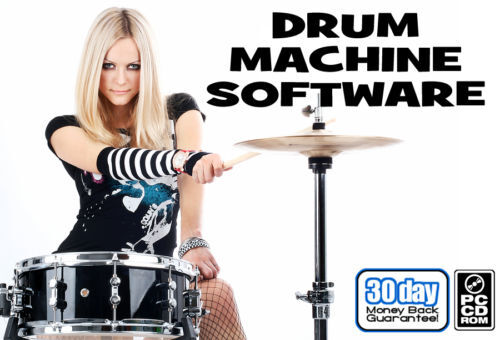 drum machine software for pc windows w guitar tools ebay. Black Bedroom Furniture Sets. Home Design Ideas
