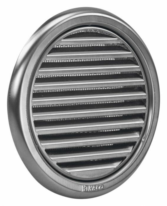 Stainless Steel Air Grille : Circular stainless steel air vent grille covers high