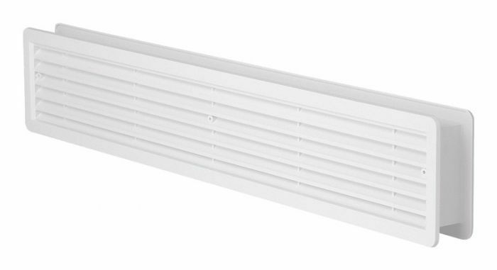 High quality door air vent grilles two sided white for Grille de ventilation murale
