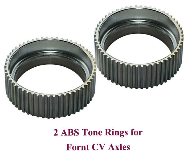 2 New CV Axle ABS Tone Rings With Lifetime Warranty