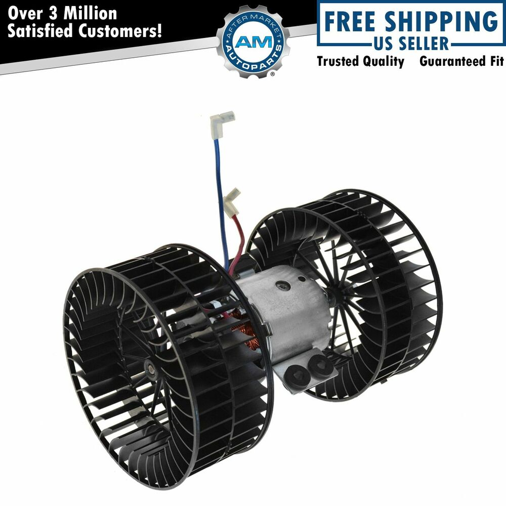 Heater Blower Fan : Heater blower motor dual fan cages front for bmw