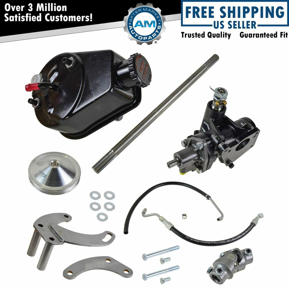 borgeson short neck water pump power steering conversion kit for gm small block ebay. Black Bedroom Furniture Sets. Home Design Ideas