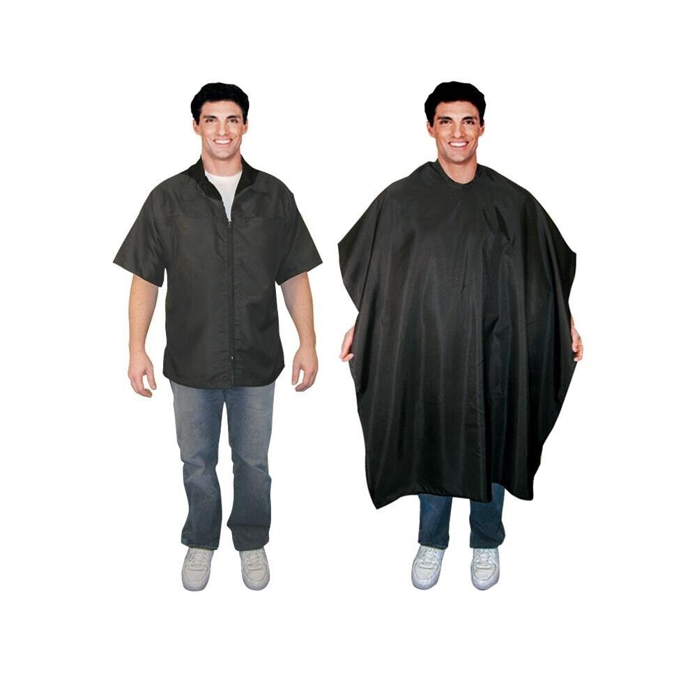 Hair Stylist Jacket : SCALPMASTER Barber Salon Polyester Jacket Hair Cutting Styling Cape ...