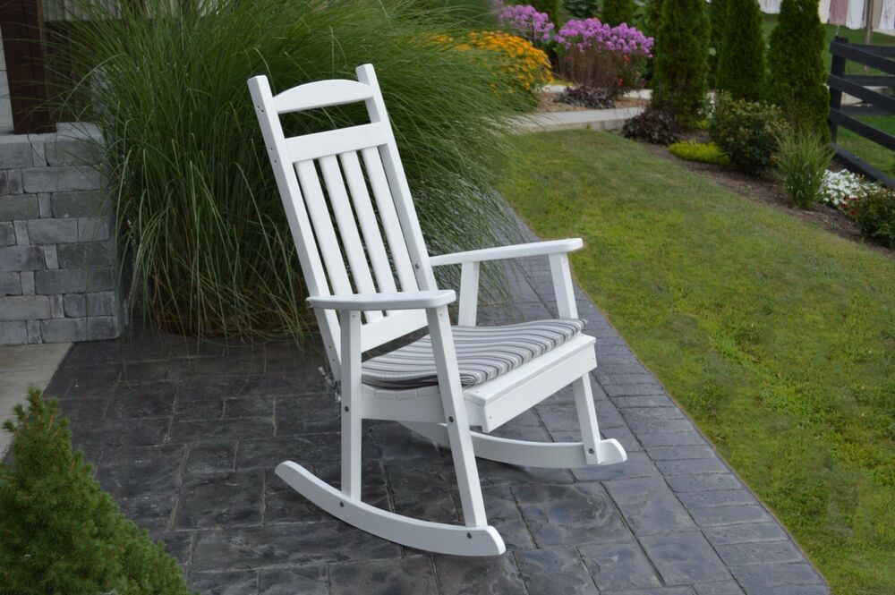 ... WOOD* CLASSIC ROCKING CHAIR *WHITE COLOR* - ONE ROCKER ONLY!!!  eBay