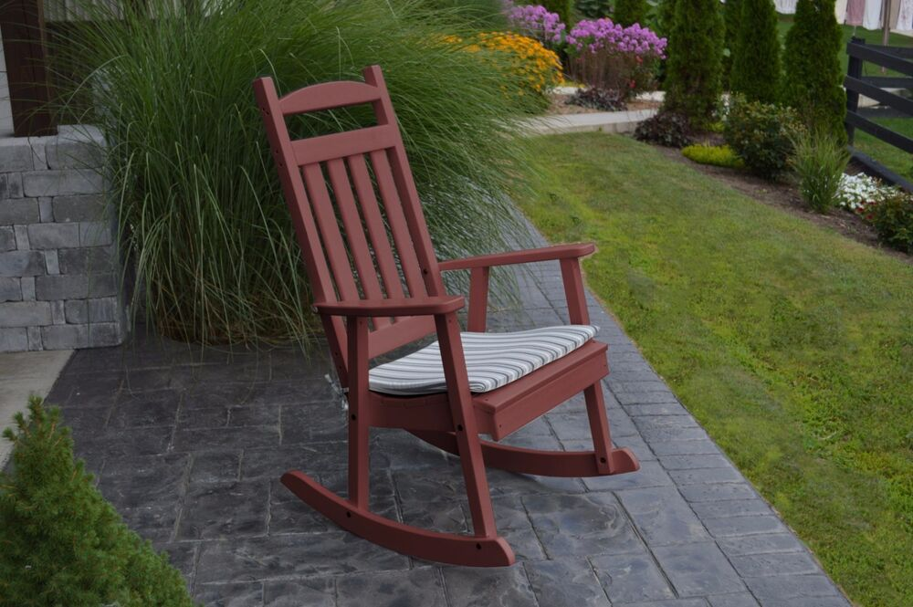 Poly Classic Rocking Chair Cherry Wood Color Wood