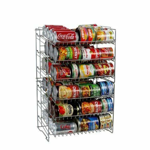 Effective Pantry Shelving Designs For Well Organized: New Can Rack Kitchen Organizer Shelf Storage Food Pantry
