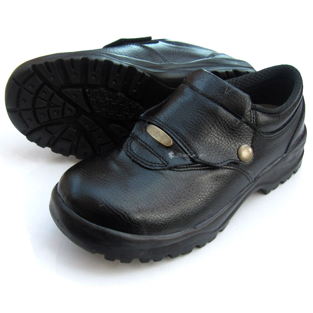 new black chef shoes leather non slip safety cook