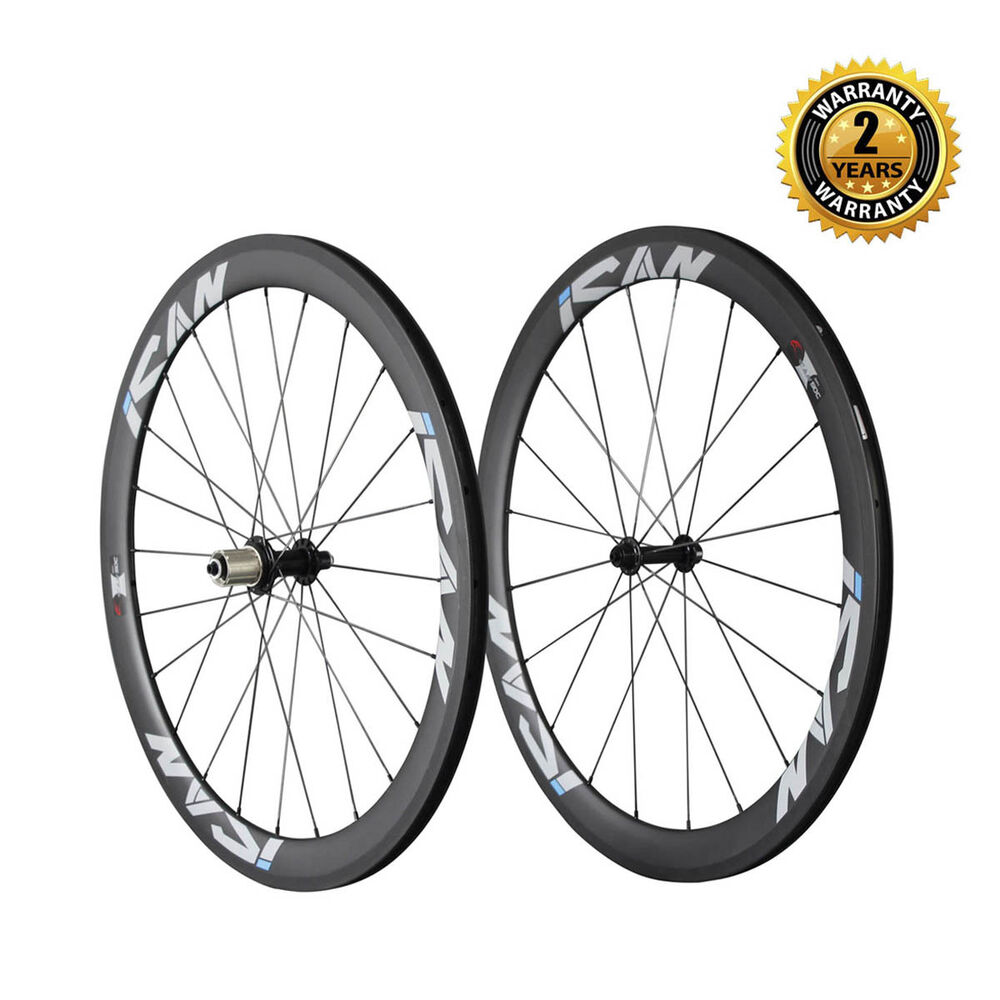 Ican Carbon Fiber Bicycle Wheelset 56mm Clincher Tubeless