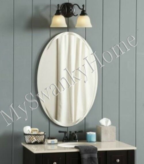 Luxury Frameless Extra Large 28 Oval Wall Mirror Vanity Bathroom Beveled Smooth Ebay