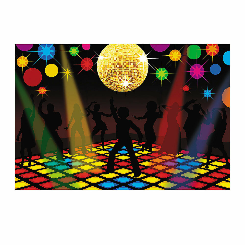 70s funky disco saturday night fever party decoration wall