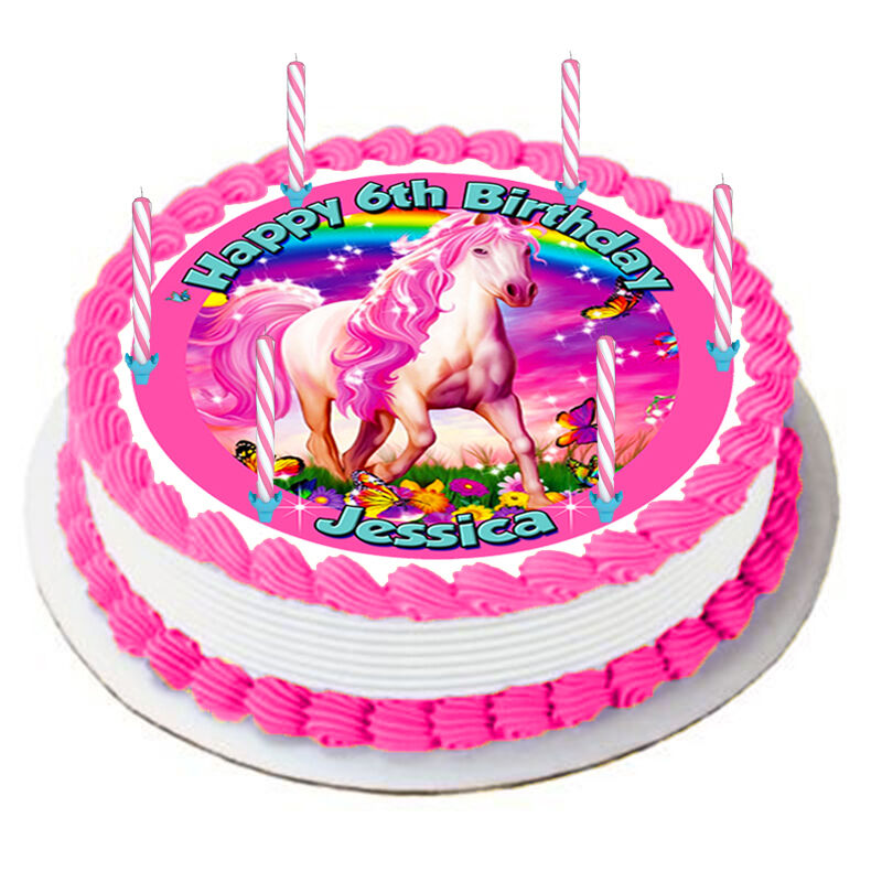 Edible Cake Sugar Frosting Sheet Topper Horses Home & Garden Kitchen, Dining & Bar