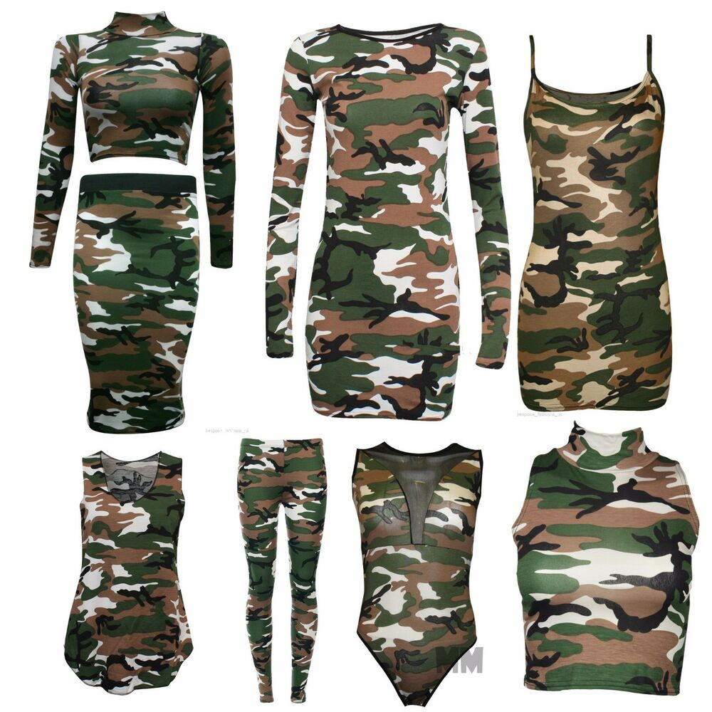 Womens Camouflage T Shirt
