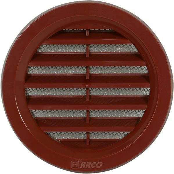 mini circle air vent grille cover 70mm brown ventilation grill cover ebay. Black Bedroom Furniture Sets. Home Design Ideas