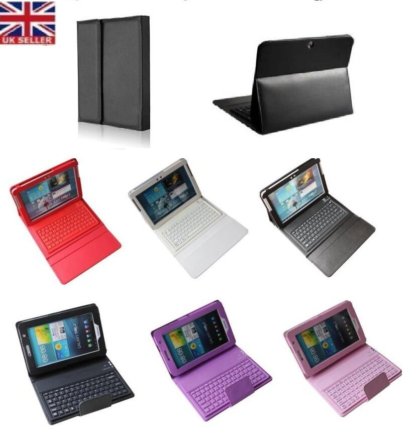 bluetooth wireless keyboard case for 7 39 39 10 1 39 39 samsung tab 2 3 4 a s2 e tablet ebay. Black Bedroom Furniture Sets. Home Design Ideas