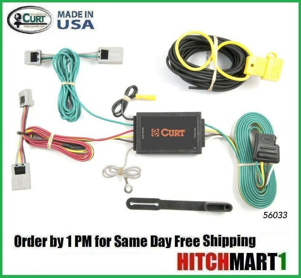 fits 2008 2016 nissan rogue except krom edition curt trailer hitch tow wiring ebay