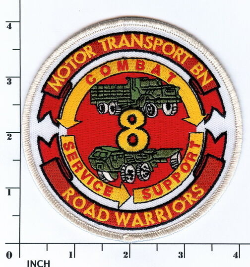 Usmc 8th motor transport battalion patch marines truck for Marine corps motor t