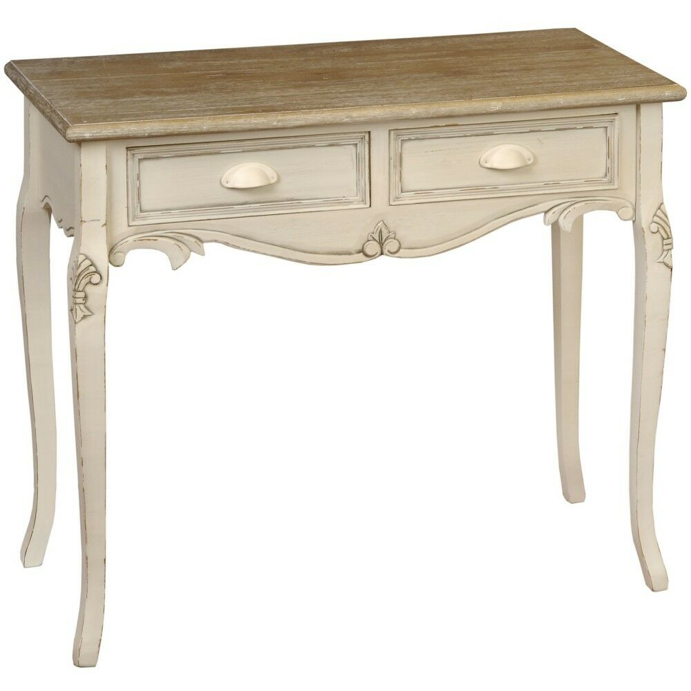 shabby chic country dressing table stunning cream dressing table with 2 drawers ebay. Black Bedroom Furniture Sets. Home Design Ideas