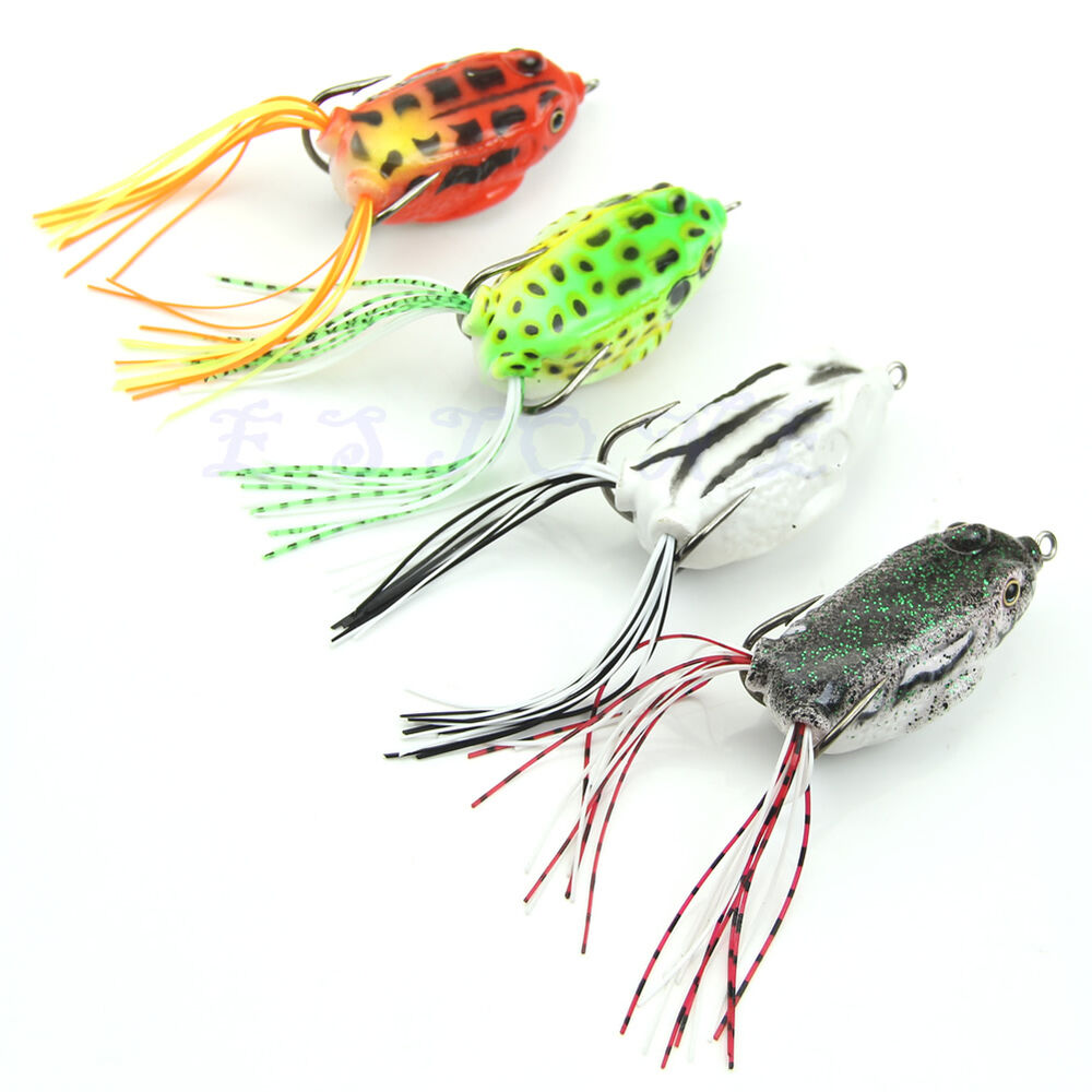 1pc hot cute large frog topwater fishing lure crankbait for Best hooks for bass fishing