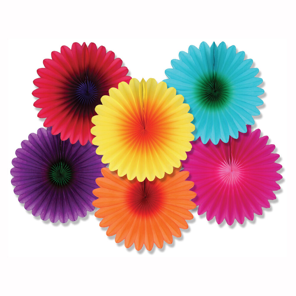 6 luau summer tropical party hanging decoration mini