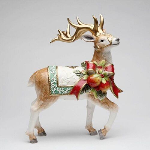 Christmas Victorian Reindeer Standing 12 Inches