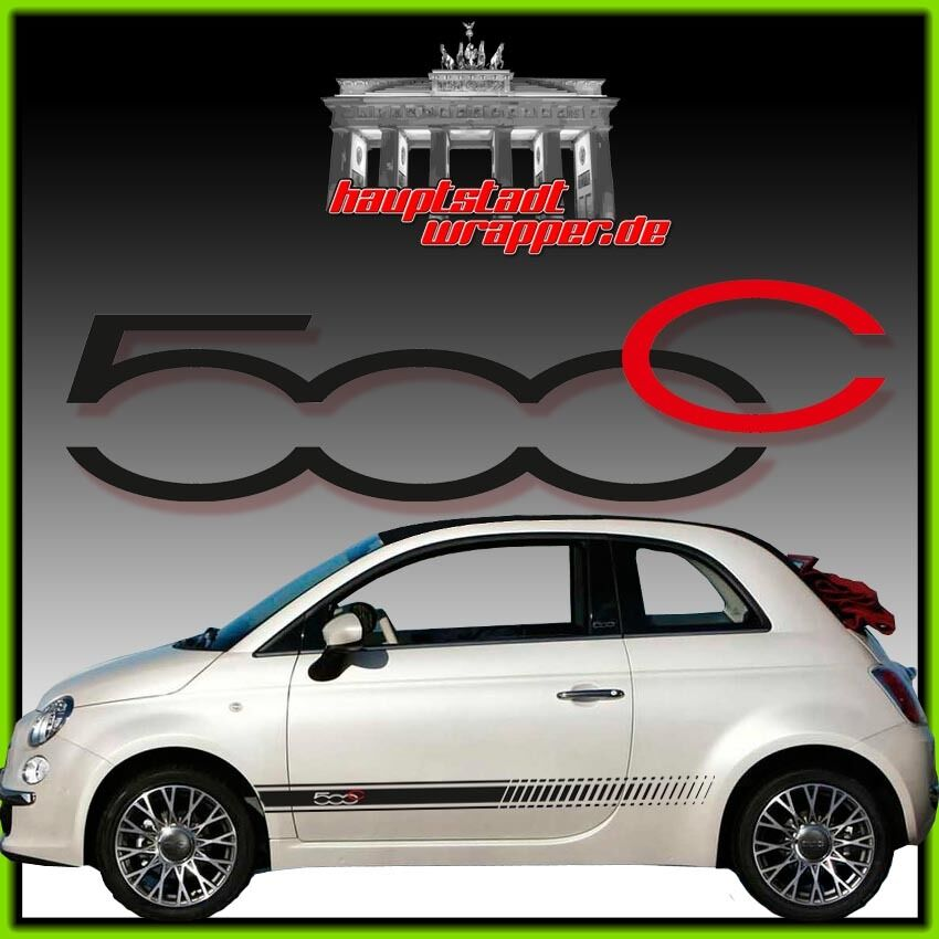 fiat 500c abarth punto skorpion seitenstreifen 500 aufkleber seitenaufkleber ebay. Black Bedroom Furniture Sets. Home Design Ideas