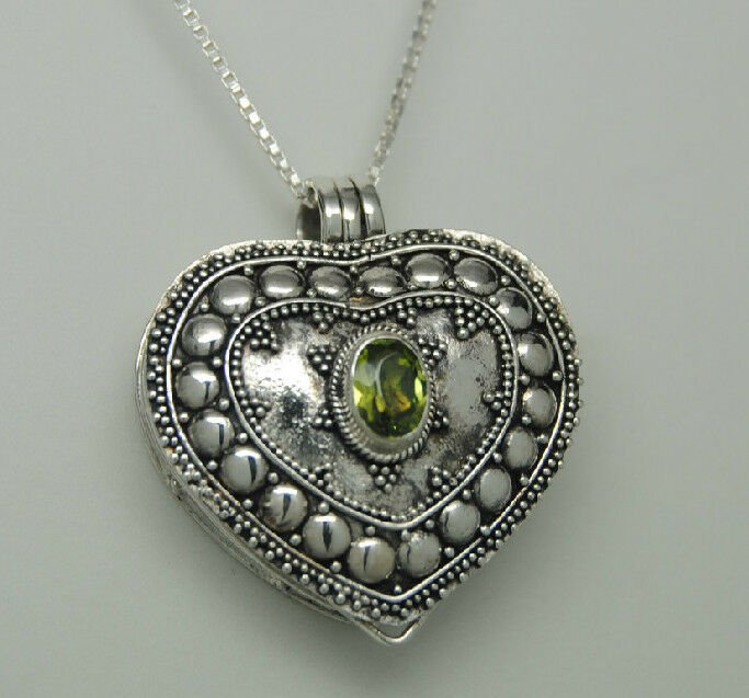 green peridot cremation jewelry sterling silver urn