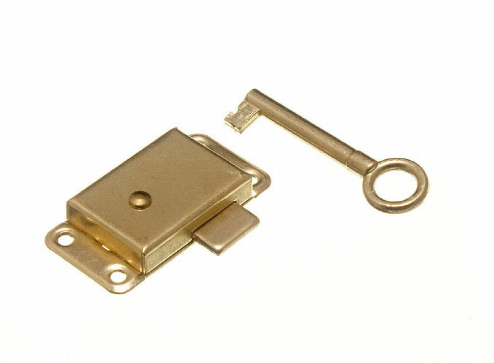 50mm 2 Quot Traditional Brassed Wardrobe Cupboard Lock Key
